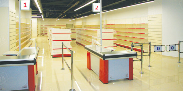 Checkout Counters - Supermarket Shelves and Equipment
